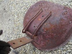 Farmall Ih H M Tractor Seat Pan W/ Extremely Rare 2 Bolt Seat Flip Over Bracket