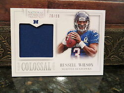 National Treasures Colossal Jersey Pro Bowl Seahawks Russell Wilson 70/99 2013