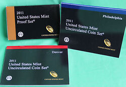 2011 Proof And Uncirculated Annual Us Mint Coin Sets Pds 42 Coins