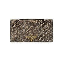 NWT CHRISTIAN DIOR Snakeskin Leather Embellished Pouchette Clutch