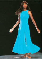 Gianni Versace Turquoise Evening Gown From Summer 1993 Miami Collection