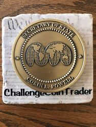 Colin Powell 65th Us Secretary Of State Huge Executive Medallion Challenge Coin