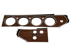 Pg Classic 202-23set 1972-74 E-body Gauge Bezel With 3 Switches