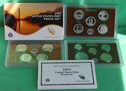 2013 S United States Mint Annual 14 Coin Proof Set Original Box And Coa