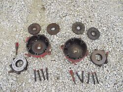 Farmall Sc Super C Tractor Pair Of Ih Disc Disk Brakes And Outer Covers