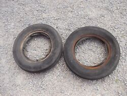 Farmall Ih Allis Chalmers Ac Jd Tractor 5.00 X15 Front 4-ply Tires And Tubes
