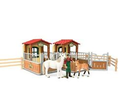 Kids Horse Barn Stall Stable Play Set Toy Toddler Figure Toddler Gift Boy Girl