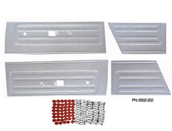 Pg Classic 6502ht-202 Mopar 1968 Barracuda Front And Rear Door Panels Pearl White