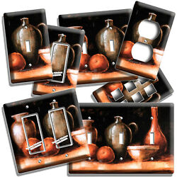 Western Country Rustic Pottery Wine Jug Light Switch Outlet Plates Kitchen Decor