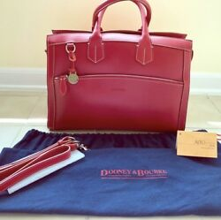 Dooney & Bourke Domed Alto Large Red Satchel Tote VERY RARE. Exceptional buyers.