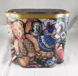 The Silver Crane Company Tin Box Cannister Vintage 1997 Teddy