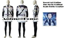 New Top Quality Sword Art Online The Movie Ordinal Scale Kirito Cosplay Costume