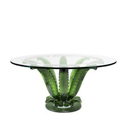 LALIQUE Cactus round table Round table green crystal 10673600