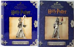 2 Hallmark Harry Potter Pewter Ornament Harry With Wand And Hermione