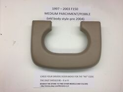 Cushioned - Ford Center Console Cup Holder Pad F150 1997-2003 Medium Parchment