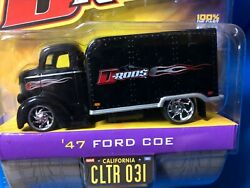 Jada D-rods 47 Ford Coe Box Bed 1/64 Diecast Wave 3, Black