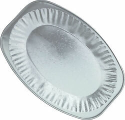 5 X 17 Silver Foil Embossed Platters Serving Dish Party Tray