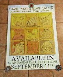 Huge Dave Matthews Band Away From The World Album Promo Poster - Rare - 36 X 48