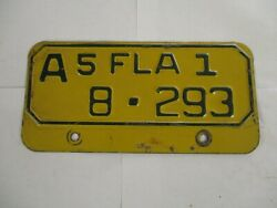 1951 Florida MOTORCYCLE  License Plate Tag REGISTERABLE