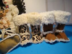 Uggy Boots For Big Stella By Connie Lowe Color Chocolate And Leopard Available