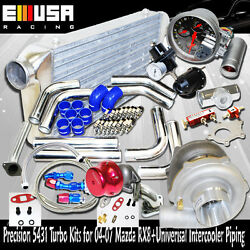 Precision 5431t3/t4 Turbo Kits For 2004-2007 Mazda Rx-8 Rx8 Universal Piping Kit