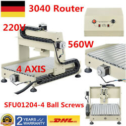 Engraving Drilling 3D Cut Carving CNC 3040 Router Engraver Machine 4 AXIS 560W