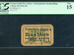 German South West Africanamibia P-121 Mark 1916-18 Pcgs F 15