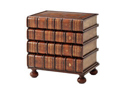 Faux Book Chest Of Drawers Or End Table New Hand Made English Victorian Style