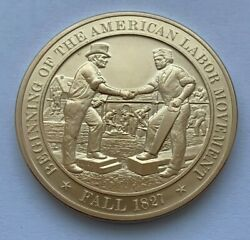 Beginning Of The American Labor Movement Fall 1827 Franklin Mint Medal