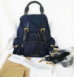 Authentic Burberry  Rucksack Bag Backpack Nylon Small Crossbody ~Ink blue~NEW