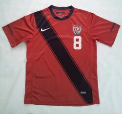 Rare Nike Dri-fit Us National Soccer Team 8 Dempsey Authentic Jersey Size S