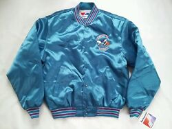 Vintage Rare Nwt Made In Usa Swingster Charlotte Hornets Satin Jacket In Size L