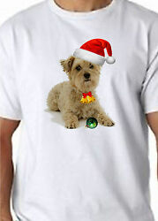 CAIRN TERRIER Christmas T Shirt 100% Cotton  FREE UK P&P Funny Dogs Canine