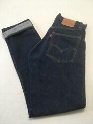 Levi's Vintage Red Tag Big E Jeans 505 0217 Zip Fly W-29/l-32 Made In Usa Euc