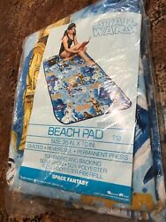 Vintage 1977 Star Wars Beach Pad Bibb Company Top Fabric Quilted Space Fantasy