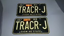 Tracr-j Matching Missouri Show Me Personalized License Plate Tag Man Cave 1997