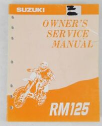 Genuine Suzuki Rm 125 Factory Owners Manual Guide Book Oem Part 99011-43d52-03a