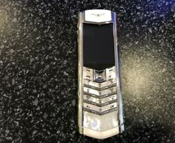 Vertu Signature S Design - Mother Pearl Diamonds (Unlocked) Cellular Phone