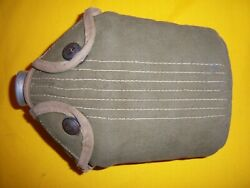 Rare 1916 Usmc Ea Snap Olive Green Khaki Canteen Cover And 1910 Canteen Exc Issued