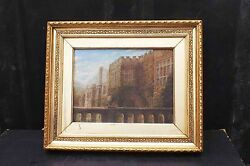 1800and039s Painting On Canvas In Quality Frame Of The Period.