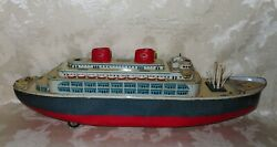 1950and039s/60and039s Tin Ocean Liner Marked Modern Toy Made In Japan Battery Operated