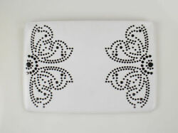 New ALAIA White with Butterfly Rivet Design Leather Clutch Bag Handbag $999 $675.00