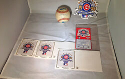 1990 Mlb All Star Game Wrigley Field Game Caught Foul Ball Rare + Ticket Stub