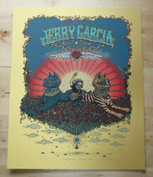 Jerry Garcia Poster - Bed Of Roses - Gold Variant - Spusta - Limited Edition