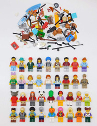 500 Lego Random Assorted Minifigures With Accessories Mini Figs All Body Parts