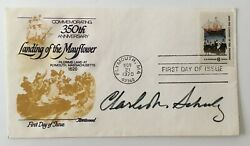Charles Schulz Signed Autographed First Day Cover Full Jsa Letter Peanuts Snoopy