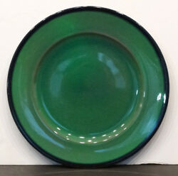 1920and039s Antique Vintage Rookwood Pottery Green Signed Arts And Crafts Dinner Plate