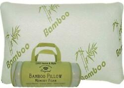 DINY Home & Style Bamboo Memory Foam Pillow In a Bag - Hypoallergenic Helps...