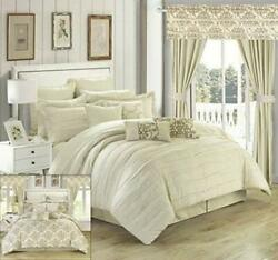 Chic Home Hailee 24 Piece Comforter Complete Bed in a Bag Sheet Set and...