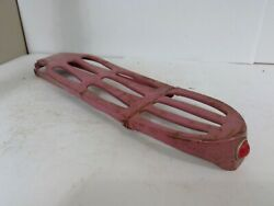 Vintage Pink Bicycle Rear Rack Carrier With Faceted Reflector
